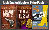 Winner of the Lenny Bartulin Jack Susko Mystery Series Prize Pack