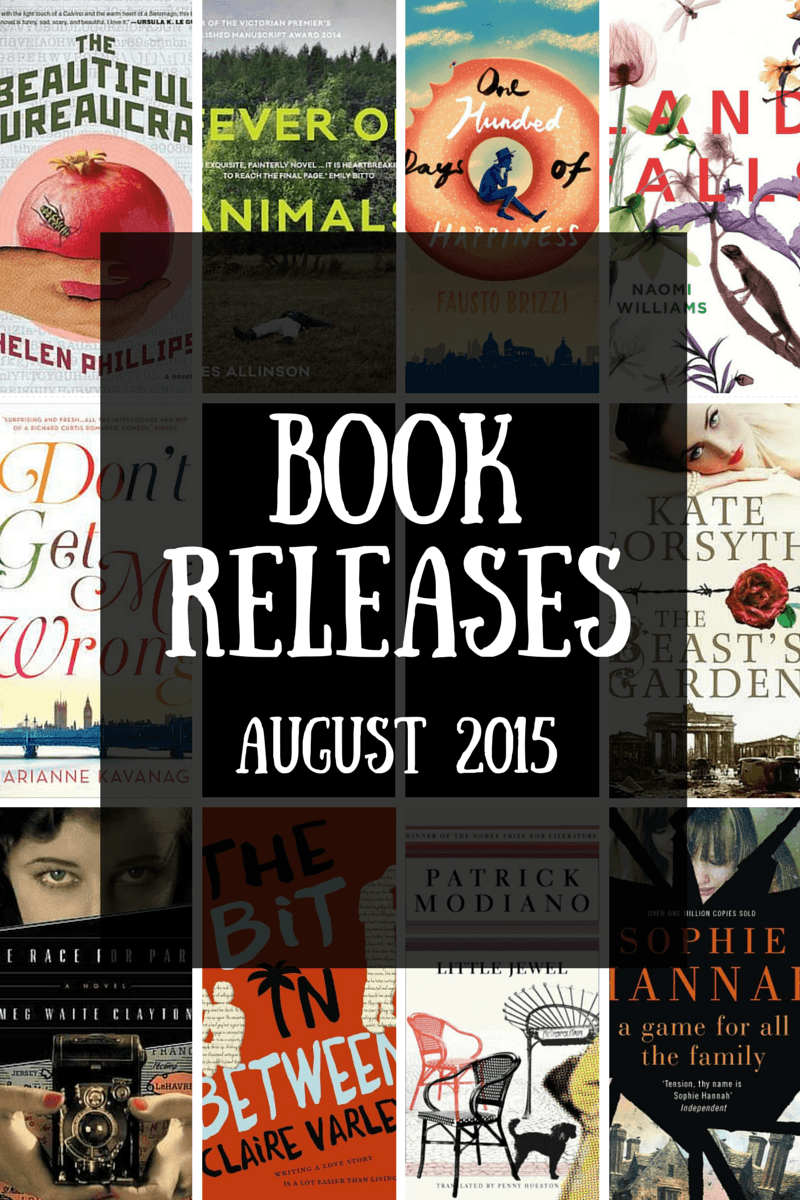 Book releases that have caught my eye – August 2015