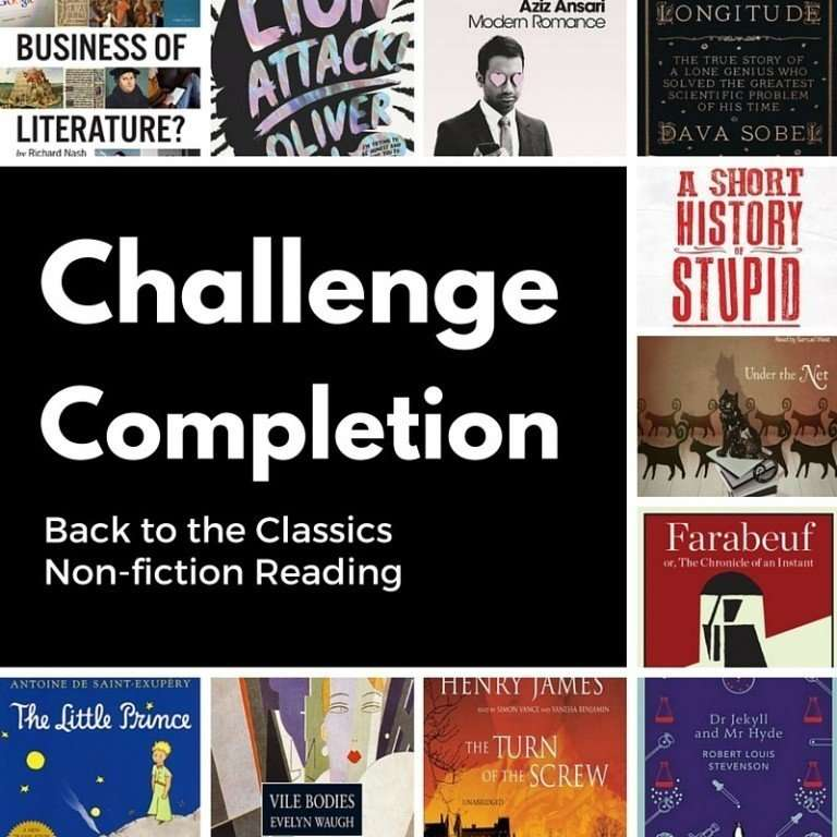 Challenge Completion – Back to the Classics & Non-Fiction Reading