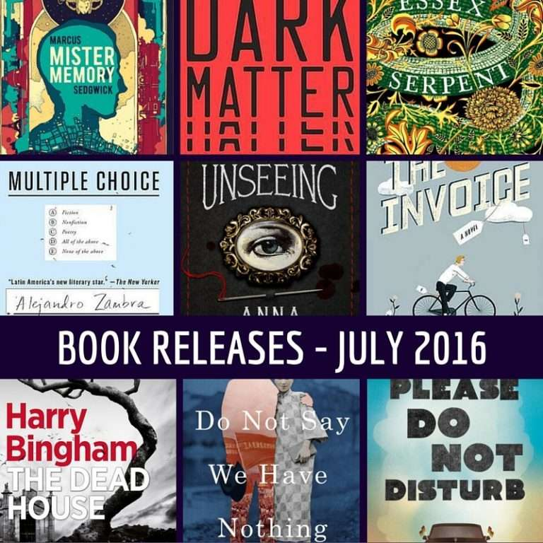 July book releases that have caught my eye – 2016