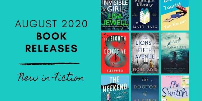 August 2020 Book Releases - New in Fiction