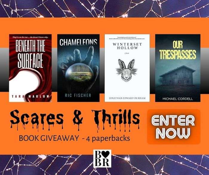 4 Book Scares Thrills Giveaway Banner